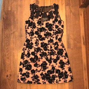 Pink and Black Dress Large with Smooth Prints.